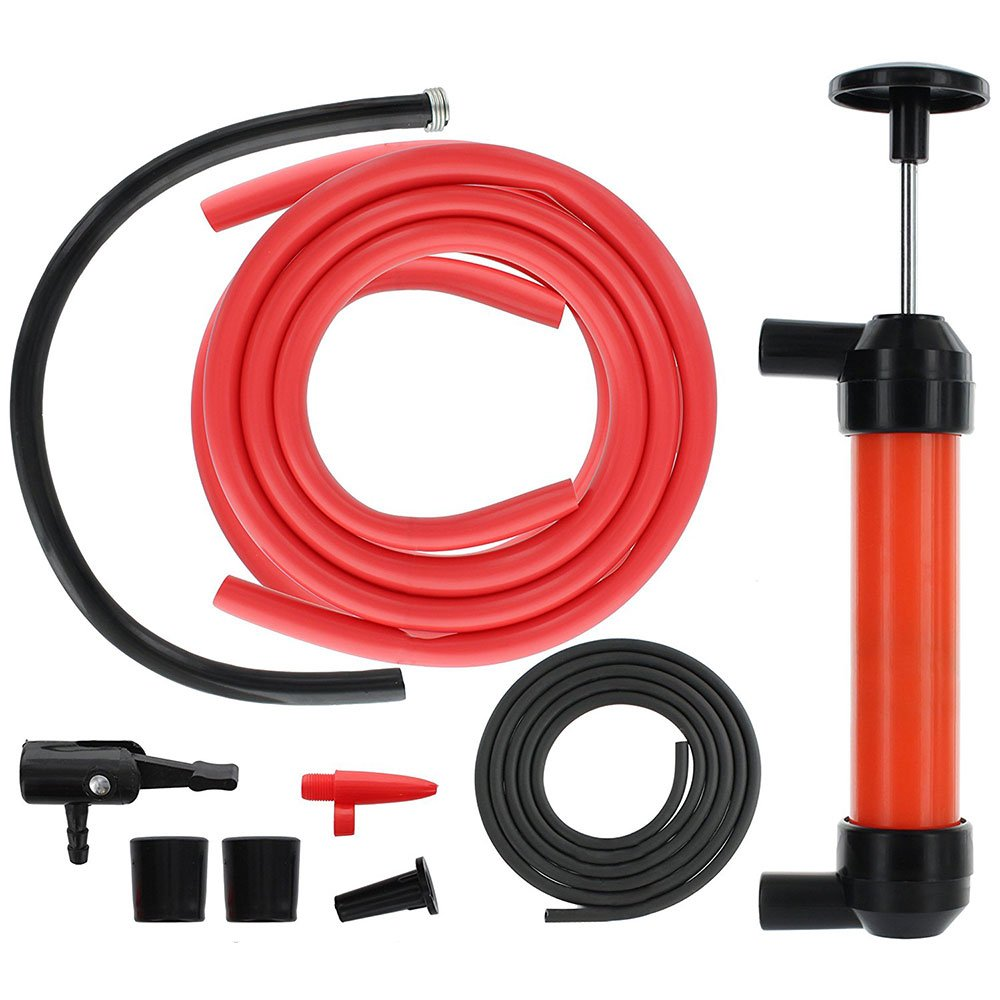 Sedeta A# Multi Purpose Siphon Transfer Pump Kit with Dipstick Tube Fluid Fuel Extractor Emergency Fluid Changer Extractor for Barrel Canister Suction Tool for Oil Gasoline Water Liquids Air toiet