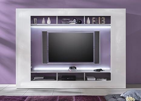 Porta Tv Design Innovativo.Parete Porta Tv Moderna Dos Mobile Soggiorno Grigio E