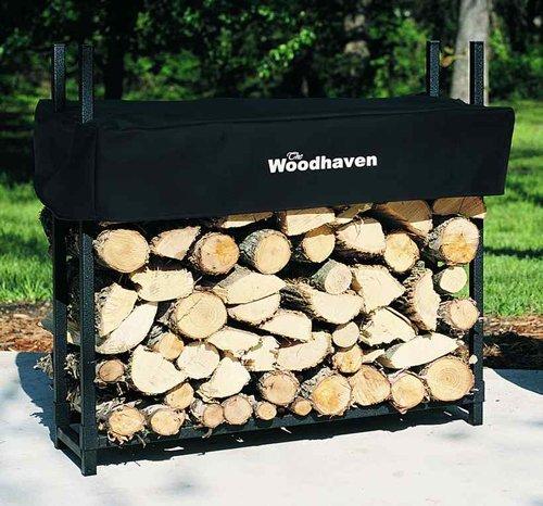 3' Firewood Rack - 1/8 Cord Capacity (Black) (3'H x 3'W x (Firewood Rack 3 Foot)