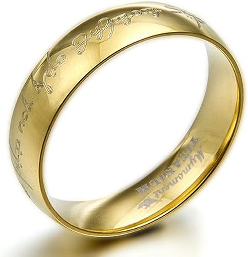 5 7 Women Ring Size Gemini Groom /& Bride 18K Gold Filled Anniversary Wedding Titanium Rings Set Width 6mm /& 4mm Men Ring Size