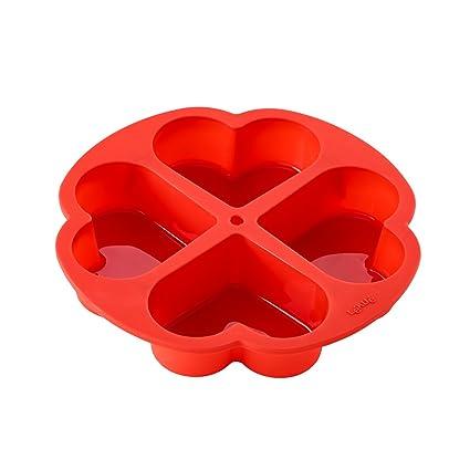 Lékué Molde para bizcochos de Corazon, Silicona, 25.6 cm