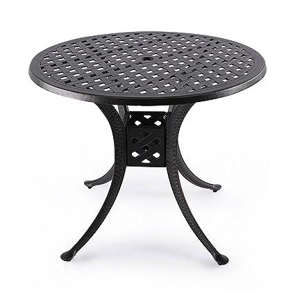 Amazoncom Nuu Garden Indoor Outdoor Patio Bistro Solid Cast - 36 round outdoor dining table