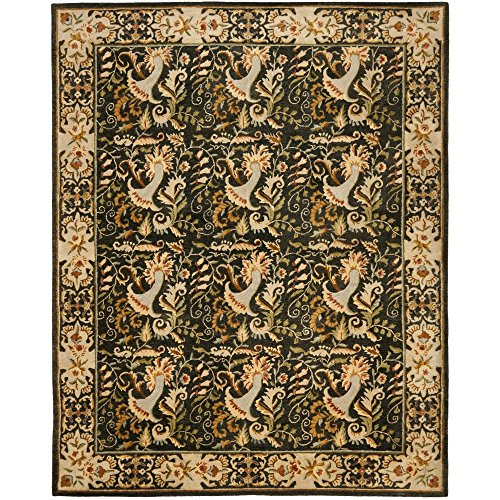 Safavieh Bergama Collection BRG107B Handmade Charcoal Premium Wool Area Rug (8' x 10') (Collection 10' Bergama)