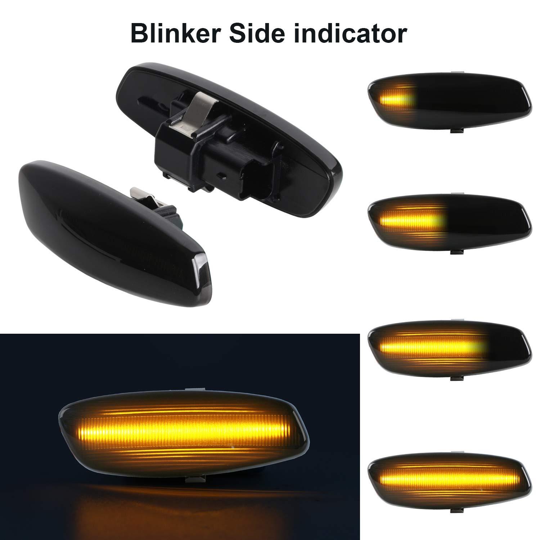 OZ-LAMPE Dynamischer Seitenblinker Blinker Flie/ßender Seitenblinker Rauch F/ür Peugeo-t 106 II 306 406 806 Expert Partner Citroe-n Berlingo Jumpy Saxo Xantia//XM//Xsara//ZX Break Fia-t