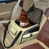 Dog Booster Car Seat Carrier Pets Carrier, Lookout Booster Seat, Portable Fordable Cat Puppy Dog Booster Seat Travel Bag Cage Kennel (Yellow)