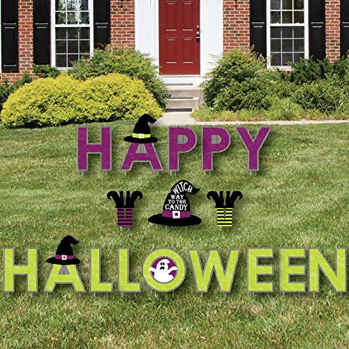 Big Dot of Happiness Happy Halloween - Yard Sign Outdoor Lawn Decorations - Witch Party Yard Signs - Happy Halloween -