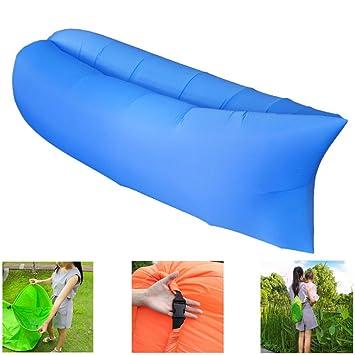 Sofá de aire Tumbona inflable Ocioso de aire impermeable Cama de ...