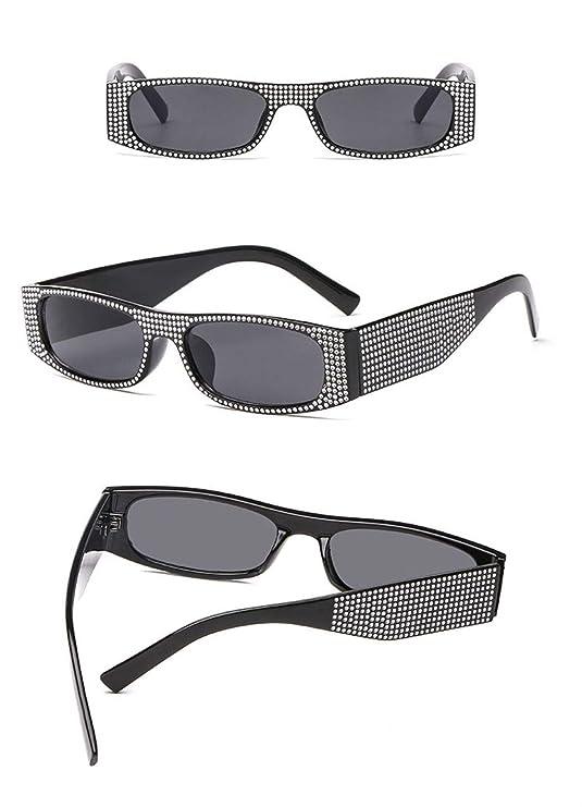 Amazon.com: Gafas de sol rectangulares para mujer, estilo ...