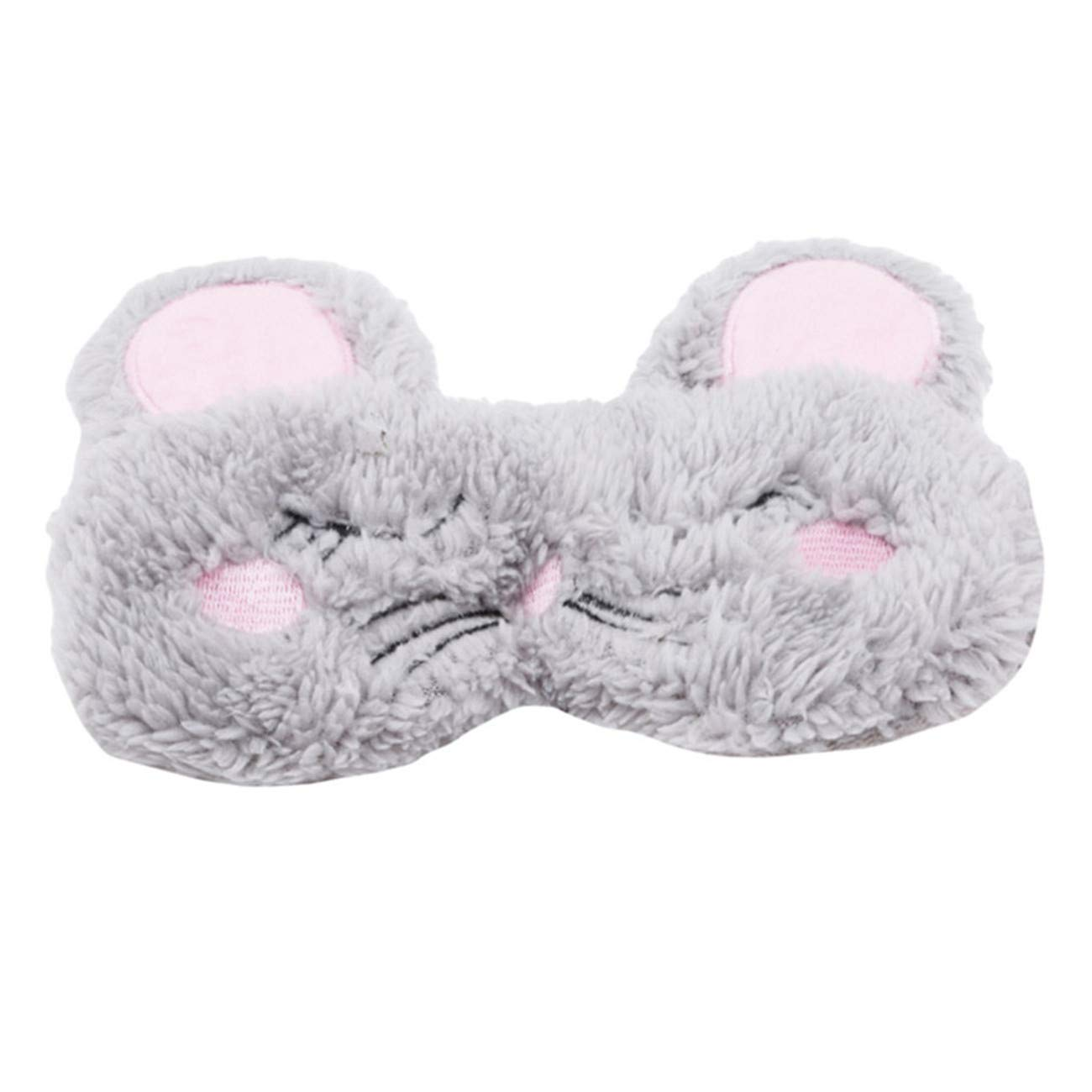 Bigsweety Sleeping Mask Eye Cover Soft Plush Blindfold for Bed Flight Car Camping Use TangRen