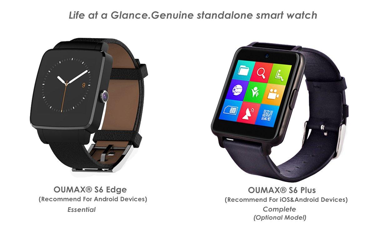 OUMAX® Bluetooth Reloj Inteligente S6 Plus para iPhone 6, 6 Plus ...