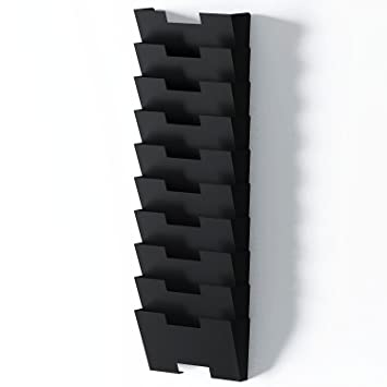 wall mount office organizer. black wall mount steel vertical file organizer holder rack 10 sectional modular design wider than letter office