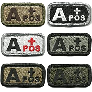 "Tactical Blood Type Patches - ""Type A Positive"" - 2""x1"""