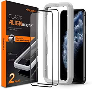 Spigen Tempered Glass Screen Protector [Glas.tR AlignMaster] designed for iPhone 11 Pro (2019) - Edge to Edge Protection