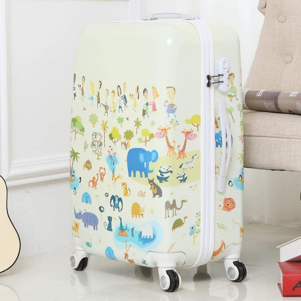 Fashion Butterfly Rolling Luggage Spinner Trolley Case Travel Bag 20 Inch Boarding Bag 24 Inch Trunk Women Suitcase, 24 Inches,Zoo
