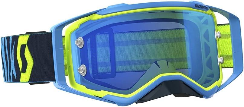 Scott Prospect Mx Goggle Cross Mtb Brille Blau Gelb Blau Chrom Works Auto