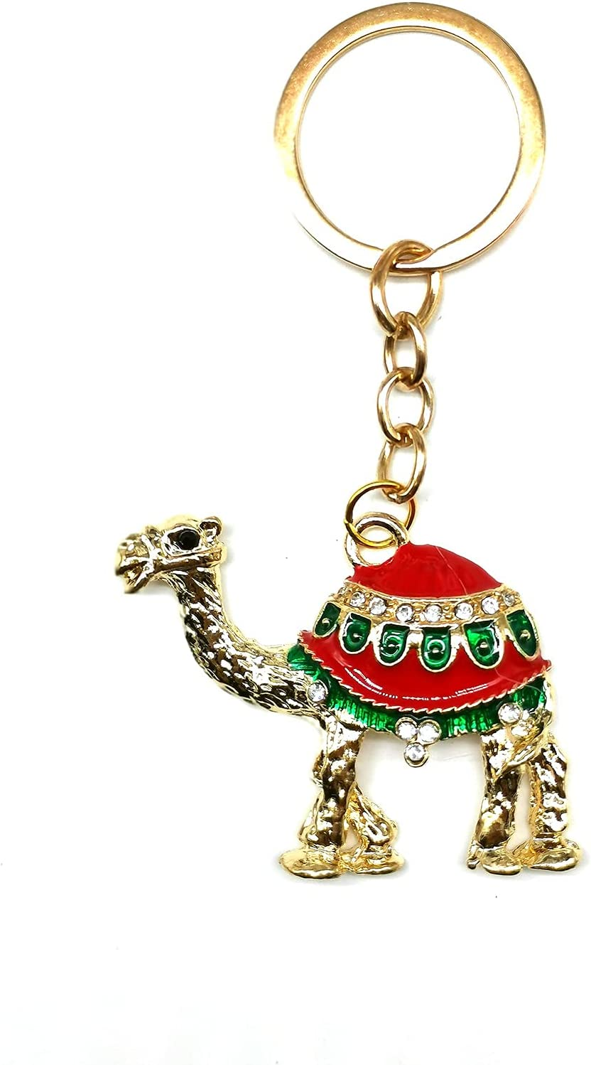 Blue Evil Eye Lucky Camel Keychain Hanging Car Rear View Mirror Home Decor Amulet Pendant Accessories
