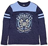 Chevrolet GM Chevy American Muscle Speckle Long Sleeve T Shirt Licensed Large Blue