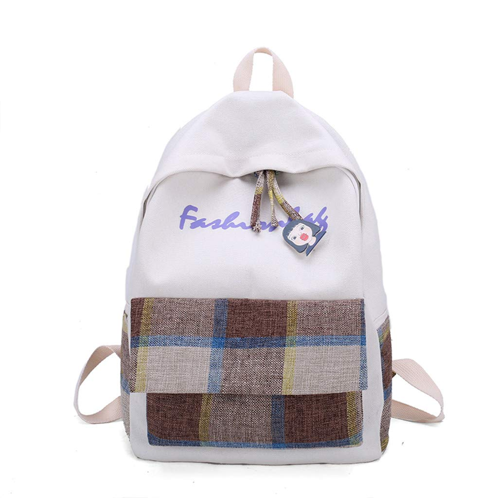 Tronet Women Fashion Backpack,Fashion Women's Simple and Versatile Backpack New Plaid Leisure Travel Backpack