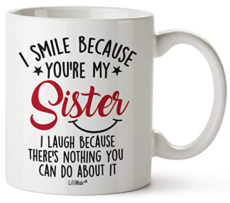 Liliwair Sister Gifts From Sister Big Sisters Gift From Brother Little Sister Birthday Gifts Funny Best Coffee Mug Cup Ideas New Happy Funny Mugs