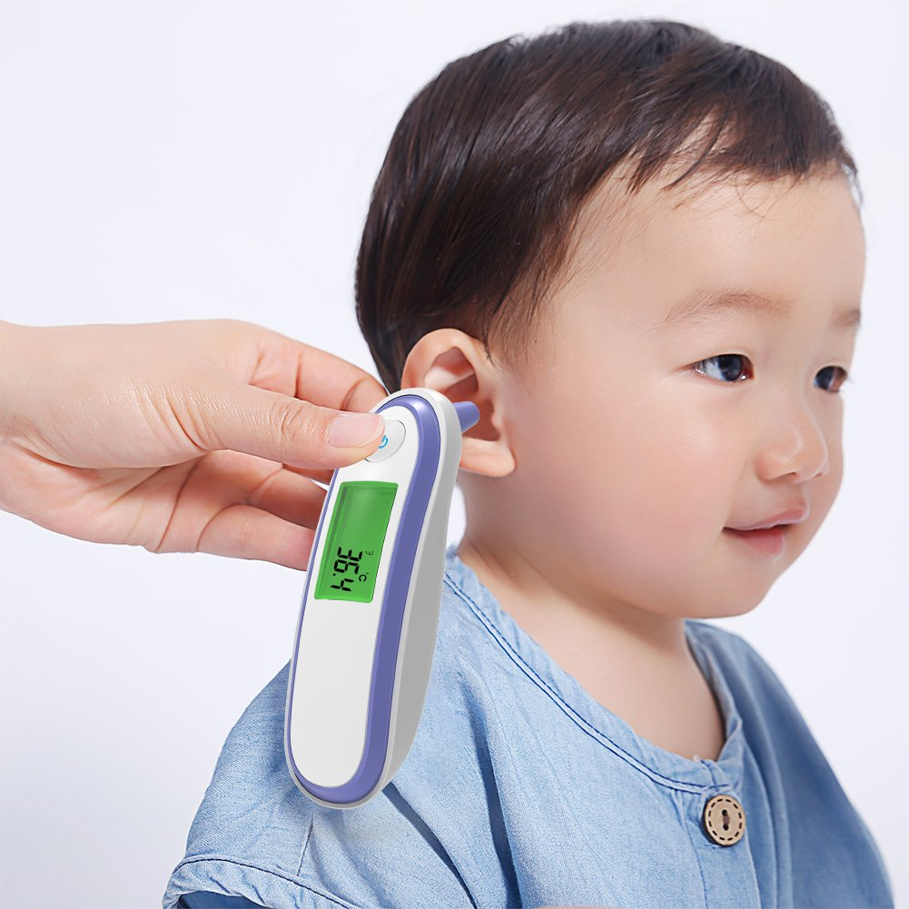 Yonker Medical Forehead and Ear Thermometer, Infrared Digital Thermometer Suitable for Baby Infant Toddler and Adults with FDA and CE Approved Batteries Included YK-IRT1(Purple) by Yonker (Image #8)