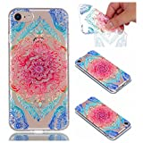 Cover Case for iPhone 6 Plus / iPhone 6S Plus, CrazyLemon Transparent Soft TPU Clear Silicone Gel Varnish Technology Embossed 3D Creative Pattern Design Durable Material Shock Proof Soft Scratch Resistant Rubber Skin Shell Protective Case Cover for iPhone 6 Plus 6S Plus 5.5 inch - Lace Flower