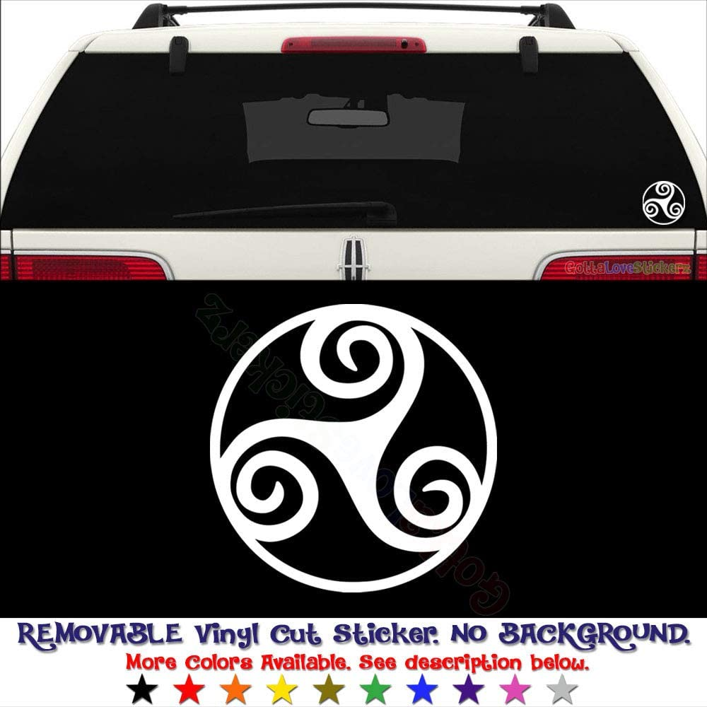 Triskel logo adhesive sticker decal sticker-many colors available
