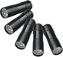 Findway 5 UV Ultra Violet Blacklight 9 LED Flashlight Torch Light Outdoors by findway