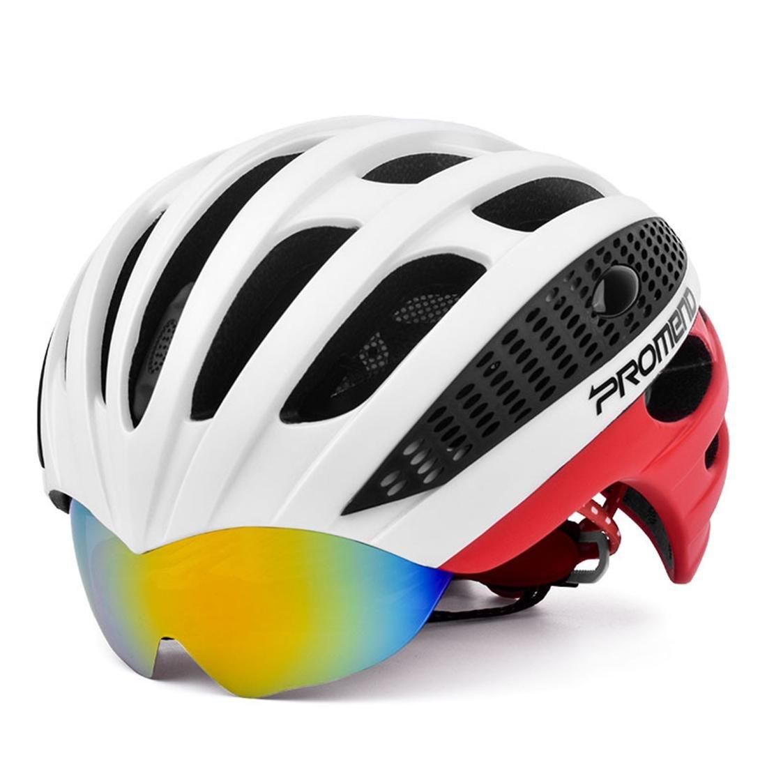 Erwachsenen Fahrrad Helm Mountainbike Helm Specialized für Radfahren Wandern Einstellbare Kopfumfang56-62 CM, 3 brille 2 kg