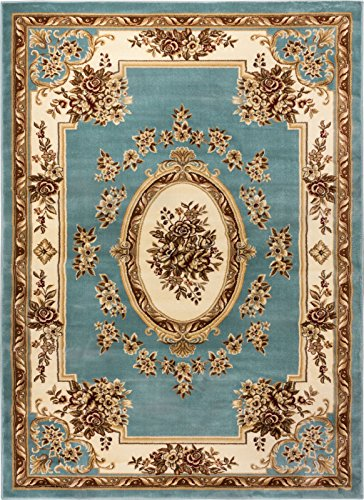 Well Woven Timeless Le Petit Palais Light Blue Traditional Area Rug 2'3