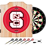 North Carolina State University Deluxe Solid Wood Cabinet Complete Dart Set - Officially Licensed!