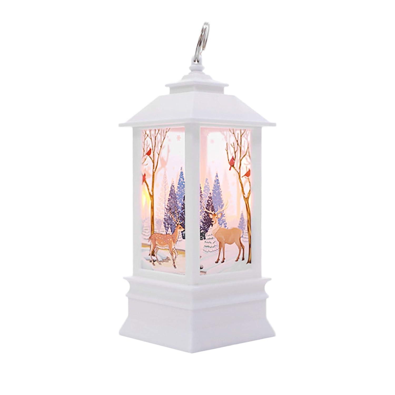 Happy Event - Candela Natalizia con Luce a LED, per Interni ed Esterni, Decorazione per Feste, Giardini, Matrimoni