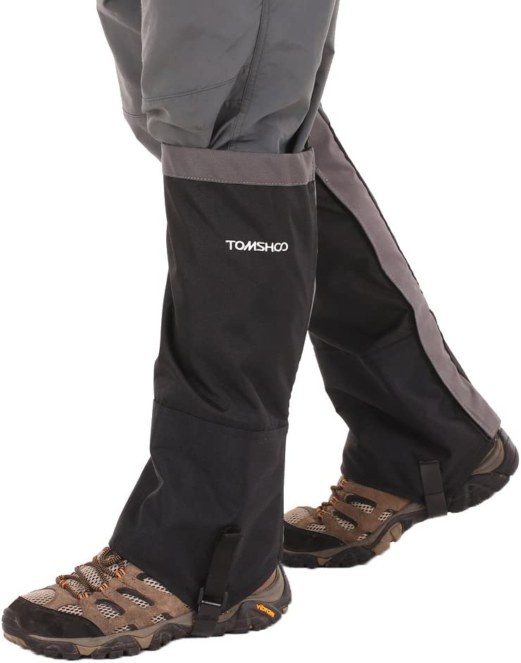 TOMSHOO Leg Gaiters Snow Leg Gaiters Waterproof Lightweight Breathable High Gaiters for Climbing Skiing Hiking Hunting