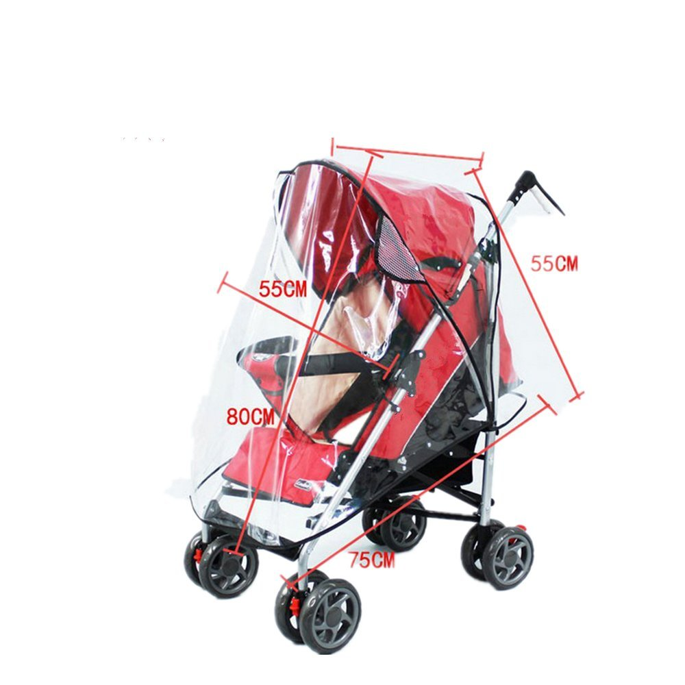 Amazon.com : CUTEHILL Baby Stroller Cover and Stroller Organizer Bag, Rain Cover and Wind Weather Shield for Protector, Clear and Waterproof, Universal Size ...