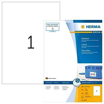 wei/ß europe100 ELA027 Universaletiketten 210 x 297 mm, 100 Blatt//100 Etiketten