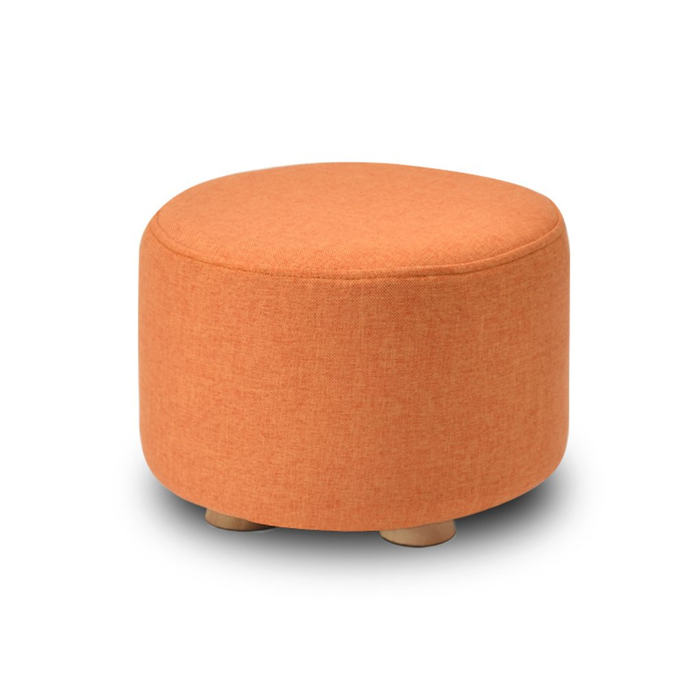 Living room solid wood stool/living room sofa stool/Bed stool Multifunctional footstool/Household stool/Coffee Table Stool/Creative shoe bench/Bench/2920cm (Color : Orange)