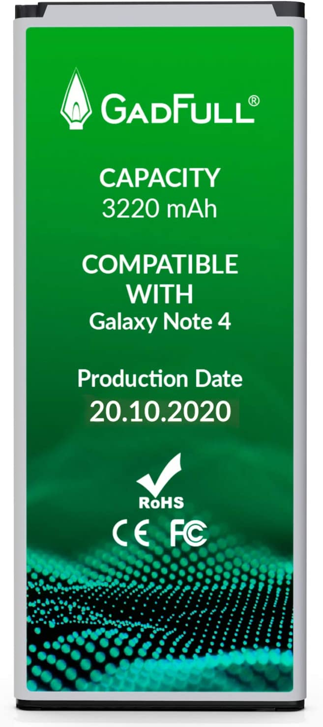 GadFull Batería de reemplazo para Samsung Galaxy Note 4   Corresponde al Original EB-BN910BBE  Compatible con SM-N910F SM-N910U SM-N910C SM-N910H SM-N910A