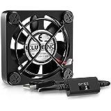 ELUTENG ファン 40mm 静音 USB 扇風機 小型 卓上 5500RPM CPUクーラー 冷却 4cm ミニ 送風機 強力 サイレントDC モーター Mini PC/PS4/PS3/PC/ルータなど適応 USB ファン