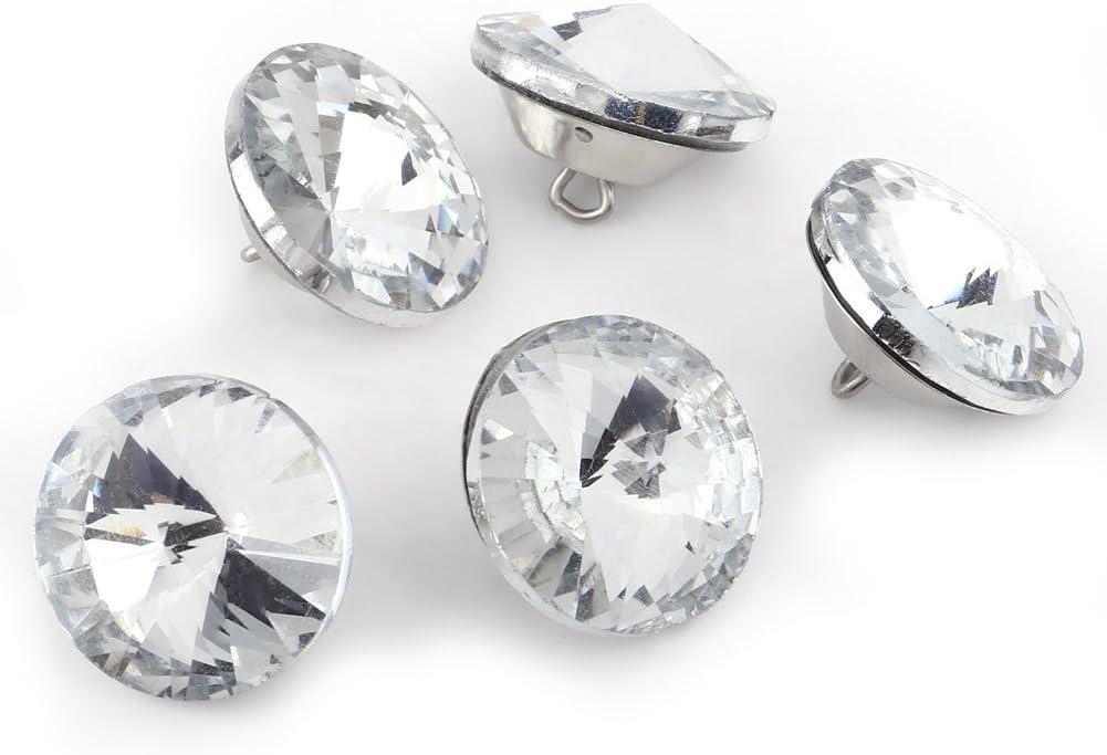 Bottoni di cristallo 25mm 50PCS DIY Rhinestone Crystal Clear Bottoni di fissaggio Divano per cucire Accessori decorativi artigianali