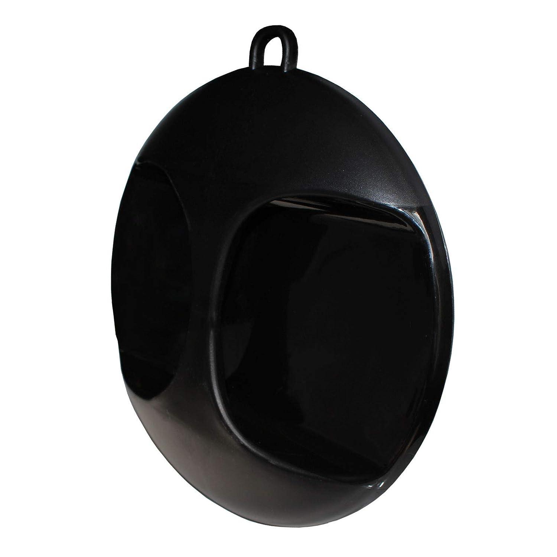 Espejo Negro Redondo para Sal/ón de Belleza Espejo para Corte de Pelo y Maquillaje Espejo Profesional Estilistas Espejo Ligero Port/átil F/ácil de Llevar y Sujetar