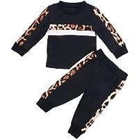 Bebé Chándal 2 Piezas Conjunto de Ropa Deportiva para Niñas Pequeñas Sudadera sin Capucha con Manga Larga Pantalones…