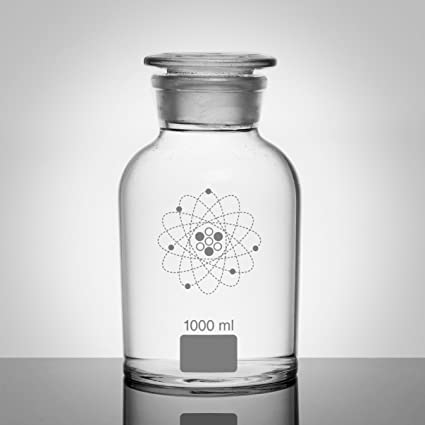 Jay laboratorio pericolangitis tarros de laboratorio blanco claro, cristal de borosilicato, 1.000 ml