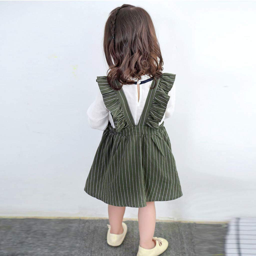 SERYU Toddler Kids Baby Girls Clothes Ruffles Party Princess Dresses