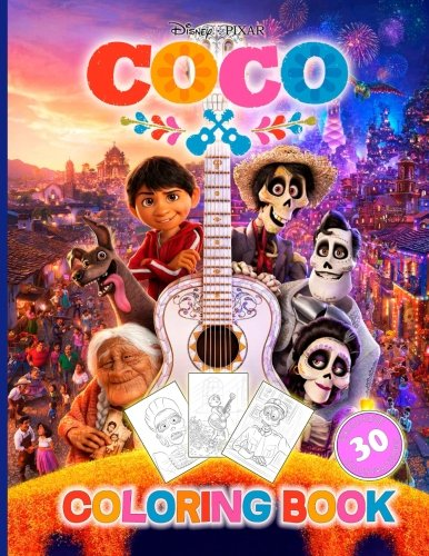 Price comparison product image Coco: Coloring Book for Kids and Adults (Disney/Pixar), Activity Book (Exclusive high-quality Illustrations 2017)