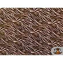 Fleece Printed*zebra Pink Brown* Fabric / By the Yard