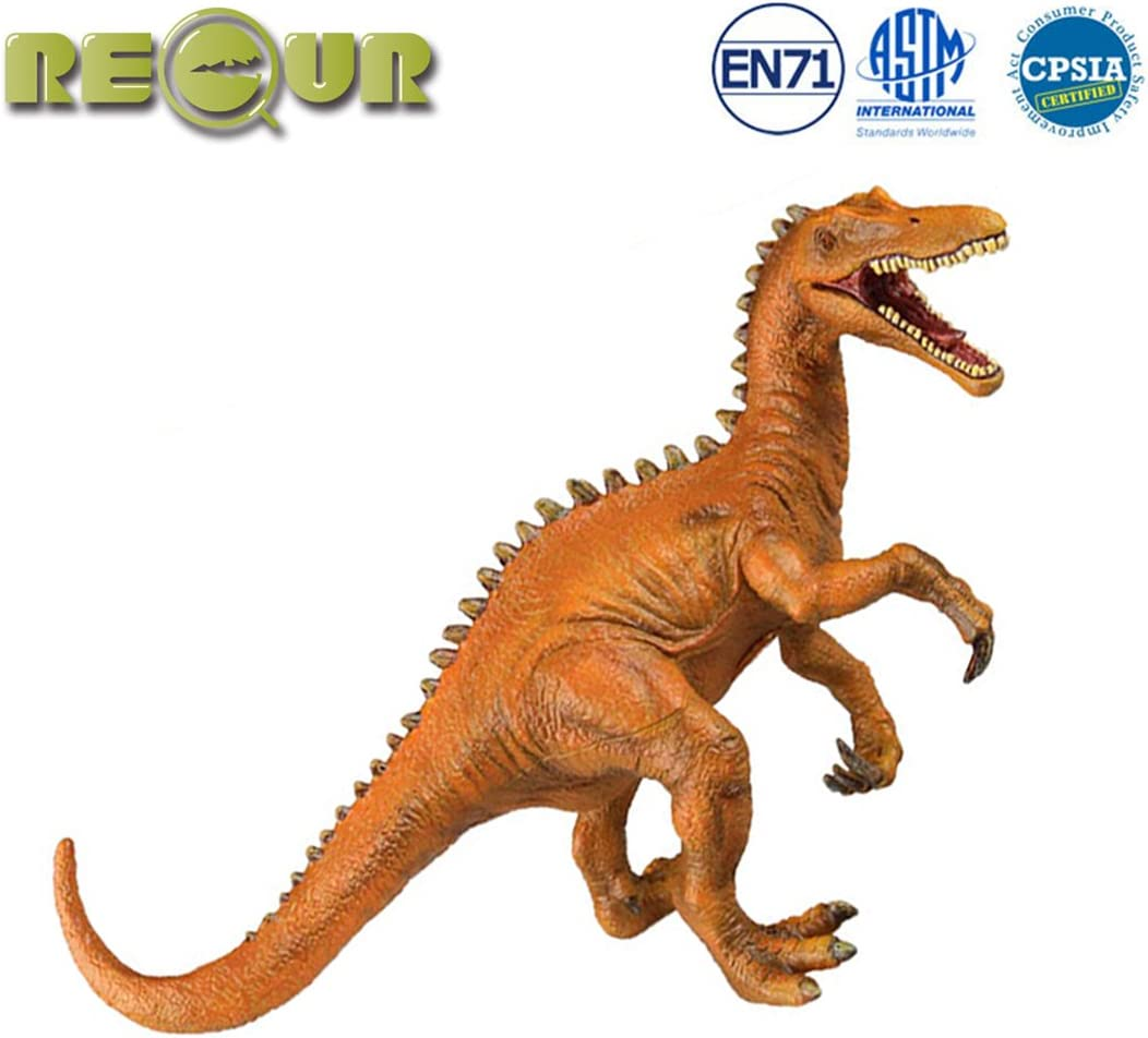 """RECUR 10"""" Baryonyx Jurassic Toys,Soft Hand-Painted Dinosaur Toy Figurine Model- Realistic 1:30 Jurassic Dinosaur Action Figures with Teeth,Ideal for Collectors, Ages 3 and Up"""