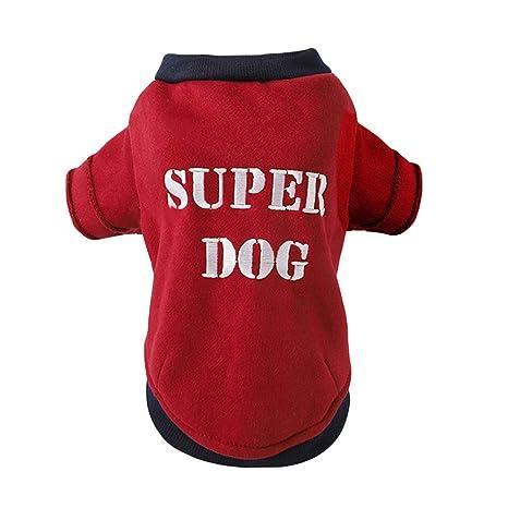POPETPOP Bordado Súper Suéteres para Perros Bulldog francés Ropa para Perros Suéter Deportivo Ropa para Cachorros