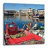 3dRose dpp_46057_3 Traditional Fishing Boats Fishing Port Vigo, Galicia, Spain-Wall Clock, 15 by 15-Inch