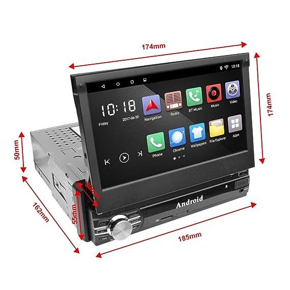 Ezonetronics 1 DIN 2G DDR3 / 16GB 7 Flip Pantalla Táctil Android 6.0 Radio del Coche Autoradio Bluetooth/GPS/FM/Am/RDS + Enlace Espejo/Control ...