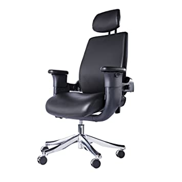 EUREKA ERGONOMIC Executive Leather Swing Chair   Patented Ergonomic High  Back Swivel Fully Adjustable Office Chair