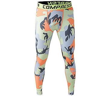 534b185856 Para hombre mallas deportivas para mujer mallas de compresión Fintess Pant,  hombre, Orange-Camo, UK XS/Tag S: Amazon.es: Deportes y aire libre